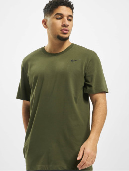 Nike Performance Sport Shirts Dry Crew Solid khaki