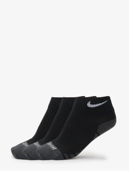 Nike Dry Lightweight Quarter Training Socks (3 Pair) Black