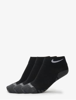 Nike Performance Sukat Dry Lightweight Quarter Training Socks (3 Pair) musta