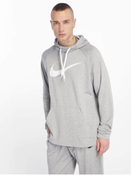 Nike Performance Sweats capuche de Sport Dry Training gris