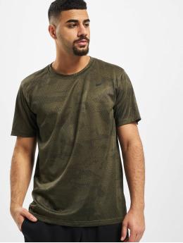 Nike Performance T-Shirt Dry Leg Camo AOP kaki