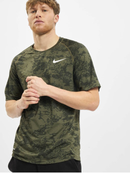 Nike Performance T-shirt Top Slim Aop oliv