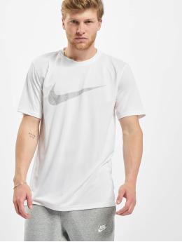 Nike Performance T-Shirty Dry Leg Swoosh Camo bialy
