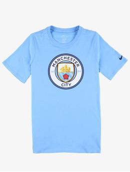 Nike Performance T-Shirty Manchester City FC Crest  niebieski