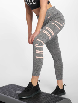 Nike Performance Tights Mid-Rise Graphic šedá