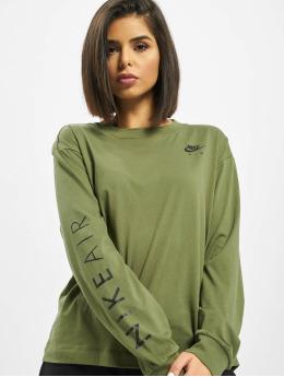Nike Pitkähihaiset paidat Air Longsleeve oliivi