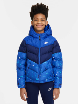 Nike Prošívané bundy Synfil Aop  modrý