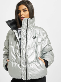 Nike Puffer Jacket Synthetic Fill silver colored