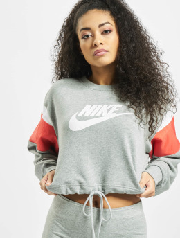 Nike Frauen Pullover Heritage Crew Fleece in grau