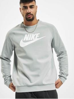 Nike Pullover Modern Crew Fleece HBR grau
