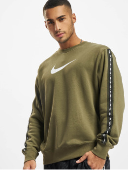 Nike Pulóvre Repeat Crew olivová