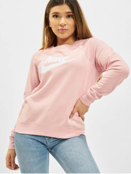 Nike Puserot W Nsw Essntl Flc Gx Crew vaaleanpunainen