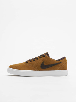 Nike SB Сникеры Check Solarsoft Skateboarding бежевый