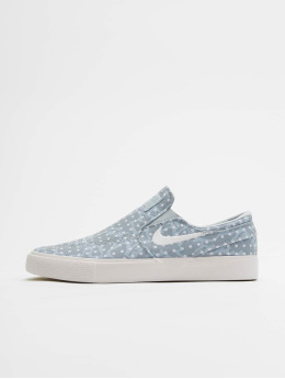 Nike SB Baskets Zoom Janoski Slip Canvas bleu
