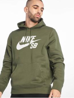 Nike SB Bluzy z kapturem SB Icon Hoodie Essential oliwkowy