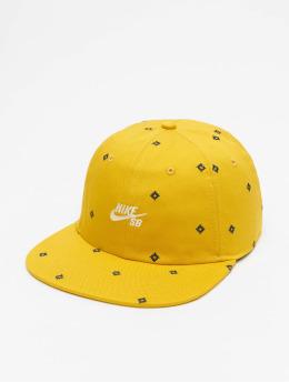 Nike SB Snapback Cap Unstruc FB AOP gelb