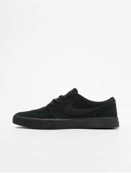 Nike SB Snejkry Solarsoft Portmore II Skateboarding čern