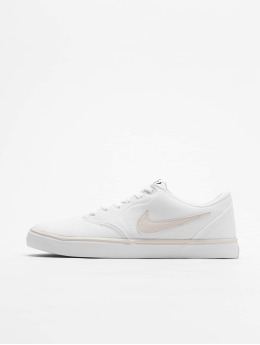 Nike SB Tøysko Check Solarsoft Canvas hvit