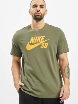 Nike SB t-shirt Dry Logo olijfgroen