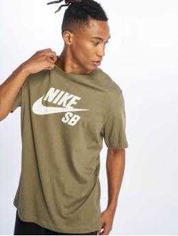 Nike SB T-Shirty Dri Fit Logo oliwkowy