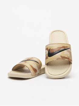 Nike Slipper/Sandaal Benassi JDI Print beige