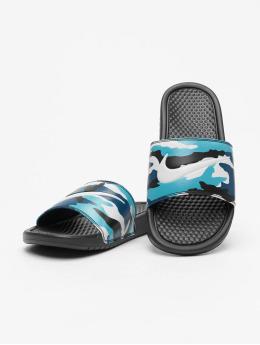 Nike Slipper/Sandaal Benassi JDI Print zwart