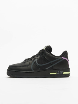 Nike Sneaker Air Force 1 React schwarz