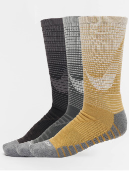 Nike Sokken Dry Cushion Training 3-Pack geel