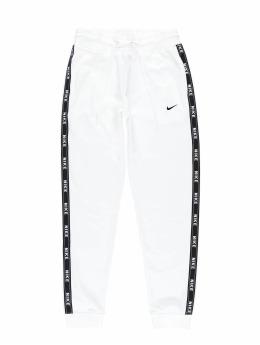 Nike Spodnie do joggingu Logo Tape bialy