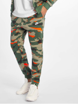 Nike Spodnie do joggingu Club Camo FT zielony