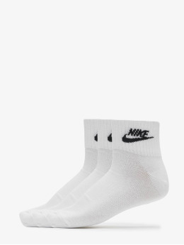 Nike Sukat Everyday Essential Ankle valkoinen