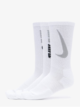 Nike Sukat Everyday Plus Cush Crew 3 valkoinen