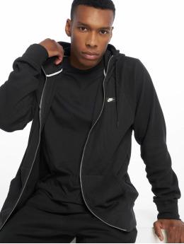 Nike Sweatvest Me Hoodie FZ Waffle zwart