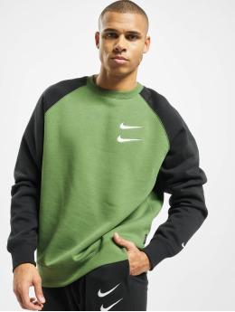 Nike Swetry Swoosh Crew BB zielony