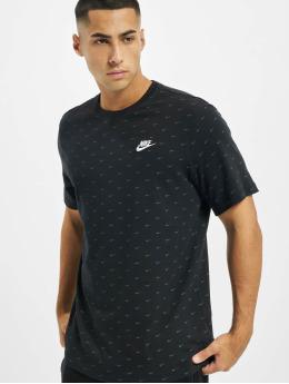 Nike T-paidat Sportswear Swoosh musta
