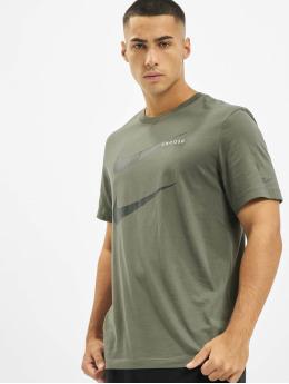 Nike T-paidat Swoosh PK 2 oliivi