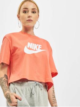 Nike T-shirt Essential Icon Future Crop apelsin