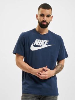Nike t-shirt Icon Futura blauw