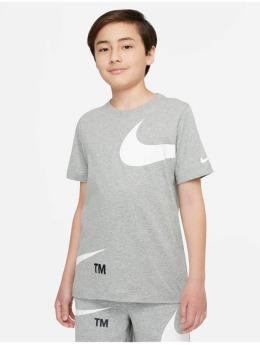 Nike T-Shirt Swoosh Pack grau