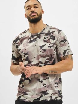 Nike t-shirt Dry Leg Camo Allover Print grijs