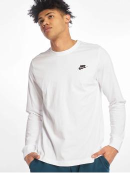 Nike T-Shirt manches longues Club LS blanc