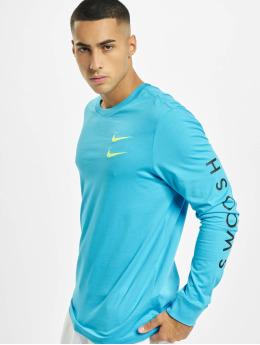 Nike T-Shirt manches longues Swoosh PK bleu