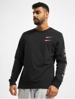 Nike T-Shirt manches longues Swoosh PK noir