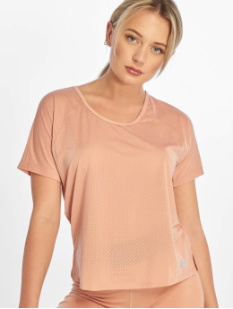 Nike T-Shirt Miler SS Breathe rose