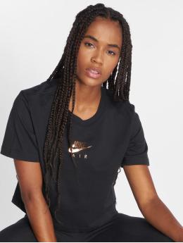 Nike T-Shirt Air Cropped schwarz
