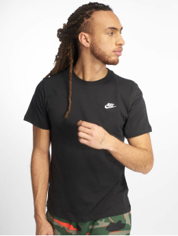 Nike t-shirt Club  zwart