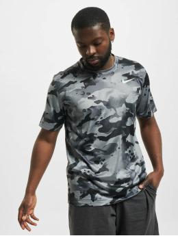 Nike T-shirts Dry Leg Camo Aop grå