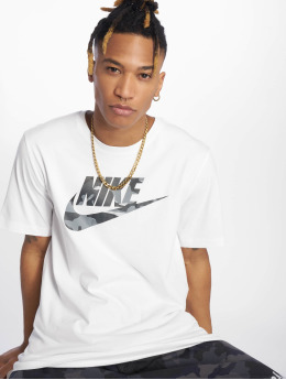 Nike T-shirts Camou hvid