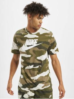 Nike T-shirts Camo 1 hvid