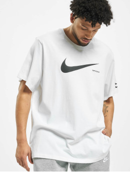 Nike T-Shirty Swoosh HBR SS bialy